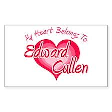 Edward Cullen Heart Rectangle Sticker