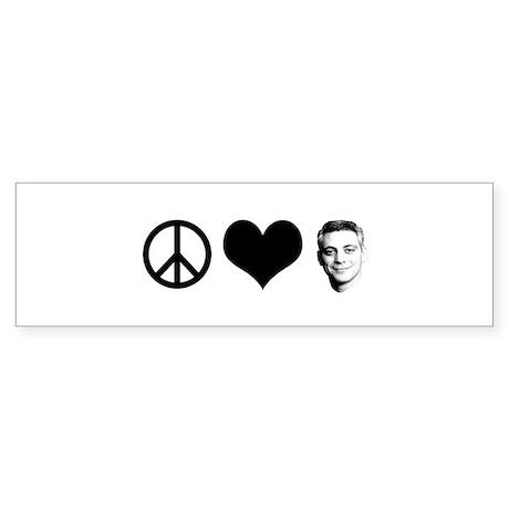 Peace, Love, Rahm Emanuel Bumper Sticker
