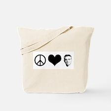 Peace, Love, Rahm Emanuel Tote Bag