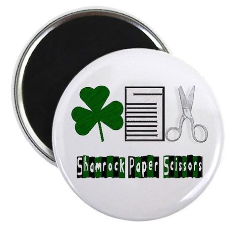 Shamrock, Paper, Scissors Magnet