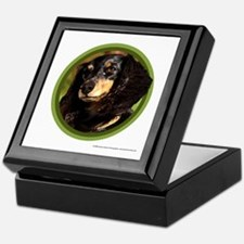 Long-Haired Dachshund Art Keepsake Box