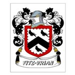 Fitz-Vrian Coat of Arms Small Poster