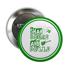 "Shamrocks and Rolls 2.25"" Button"