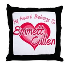 Emmett Cullen Heart Throw Pillow
