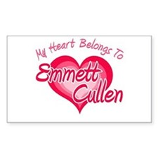 Emmett Cullen Heart Rectangle Decal