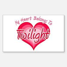 Heart Belongs Twilight Rectangle Decal