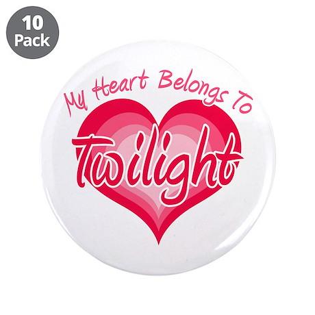 """Heart Belongs Twilight 3.5"""" Button (10 pack)"""