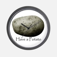 Cute Potatoes Wall Clock