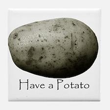 Cute Potatoes Tile Coaster