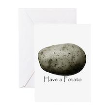 potato Greeting Cards