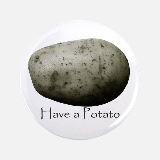 """Unique Potatoes 3.5"""" Button"""