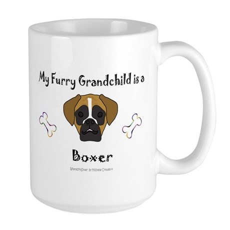 boxer gifts Large Mug