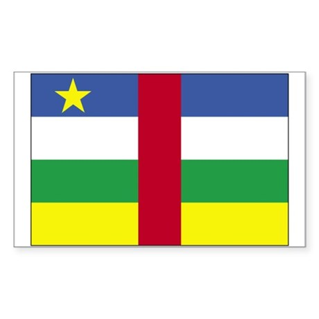 Central African Republic Rectangle Sticker 50 pk)