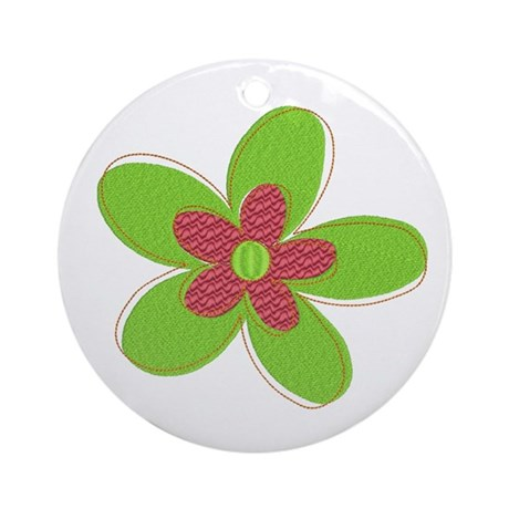 Retro Flower Ornament (Round)