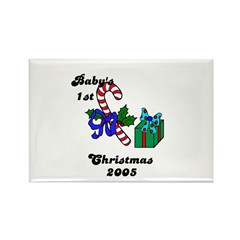 BABY'S 1ST CHRISTMAS 2005 Rectangle Magnet