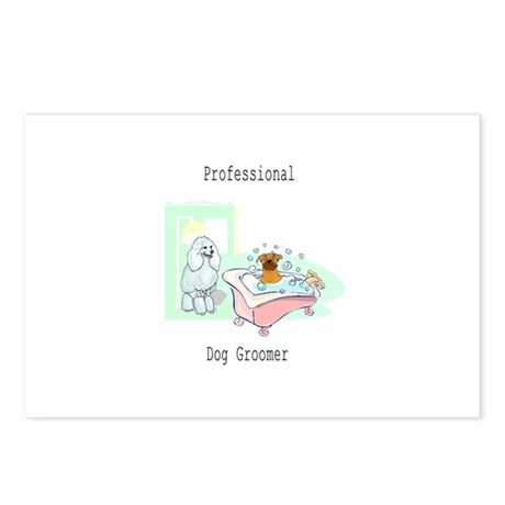 Professional Dog Groomer Logo Postcards (Package o