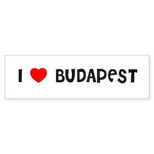 I LOVE BUDAPEST Bumper Bumper Sticker