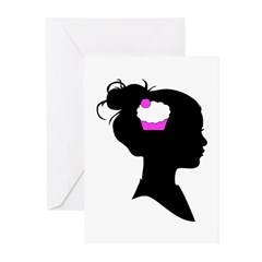 Cupcake Brain Greeting Cards (Pk of 10)