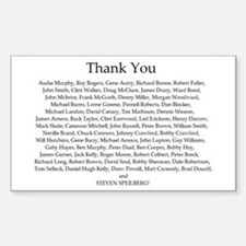 THANK YOU! Rectangle Decal