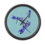 Dragonflies Large Wall Clock