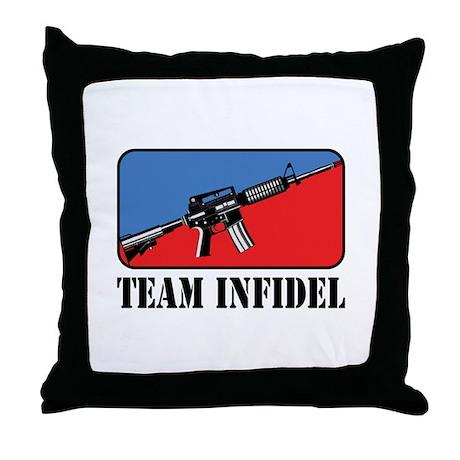 Team Infidel Logo Throw Pillow