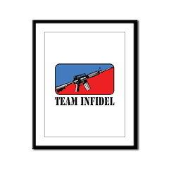 Team Infidel Logo Framed Panel Print