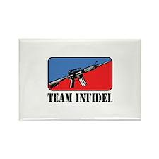 Team Infidel Logo Rectangle Magnet