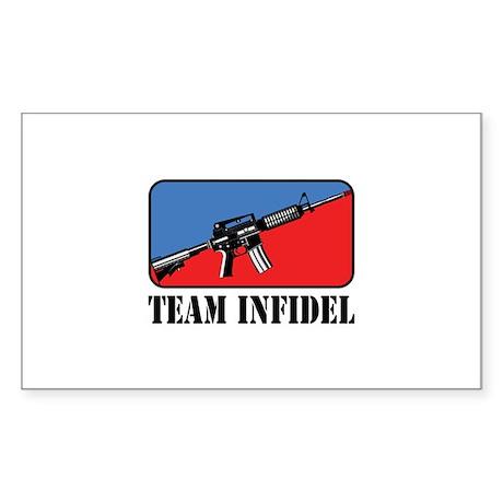 Team Infidel Logo Rectangle Sticker