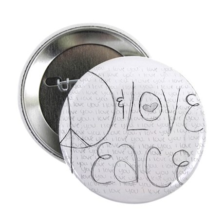 """Peace & Love 2.25"""" Button (10 pack)"""