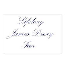 James Drury Postcards (Package of 8)