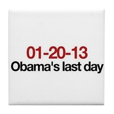 01-20-13 Obama's last day Tile Coaster