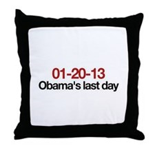 01-20-13 Obama's last day Throw Pillow