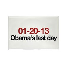 01-20-13 Obama's last day Rectangle Magnet