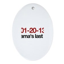 01-20-13 Obama's last day Oval Ornament