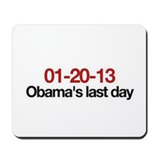 01-20-13 Obama's last day Mousepad