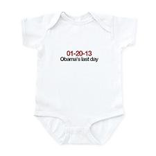 01-20-13 Obama's last day Infant Bodysuit