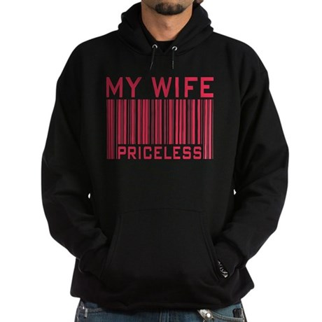 My Wife Priceless Barcode Hoodie (dark)
