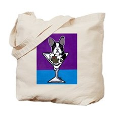 French Bulldog Martini, B&W Tote Bag
