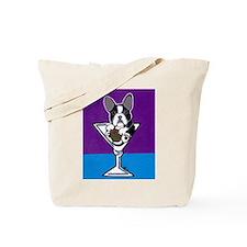 French Bulldog Martini, B&W Tote Bag