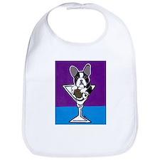 French Bulldog Martini, B&W Bib