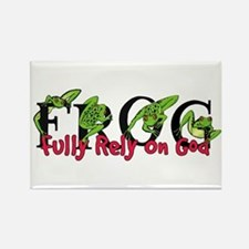 FROG: Fully Rely on God Rectangle Magnet