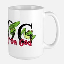 FROG: Fully Rely on God Large Mug