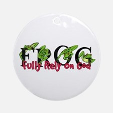 FROG: Fully Rely on God Ornament (Round)