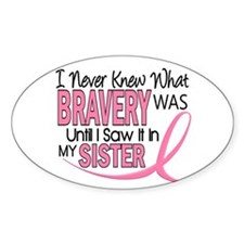 Bravery (Sister) Breast Cancer Awareness Decal