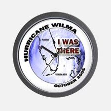 FL Satellite Hurricane Wilma Wall Clock