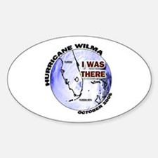FL Satellite Hurricane Wilma Oval Decal