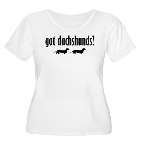 Got Dach's? (2) Women's Plus Size Scoop Neck T-Shi