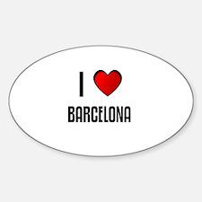 I LOVE BARCELONA Oval Decal