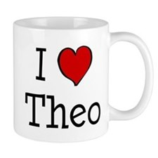 I love Theo Small Mug