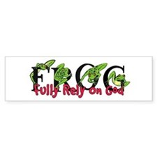FROG: Fully Rely on God Bumper Bumper Sticker